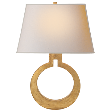 Ring Form Large Gilded Wall light Sconce - Decolight Ltd