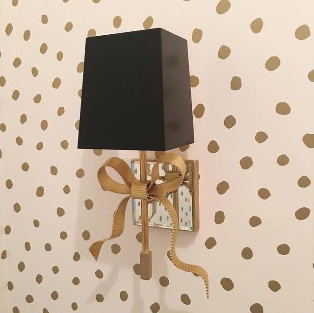 Decolight Ellery Small Bow Wall light Soft Brass Black Shade