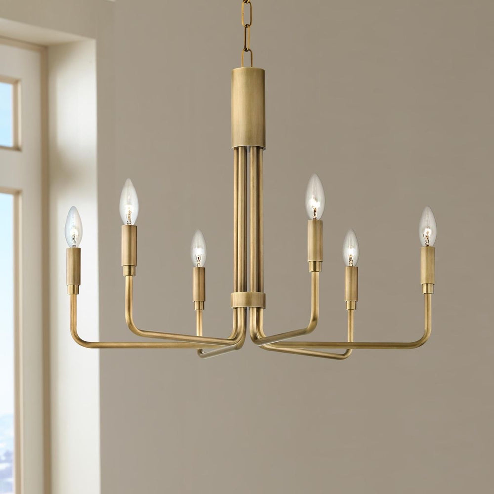 Mitzi Lighting Brigitte 6 light Ceiling Light Aged Brass - Decolight Ltd