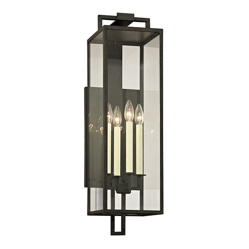 Troy Lighting Large Beckham Forged Iron Wall Light - Decolight Ltd