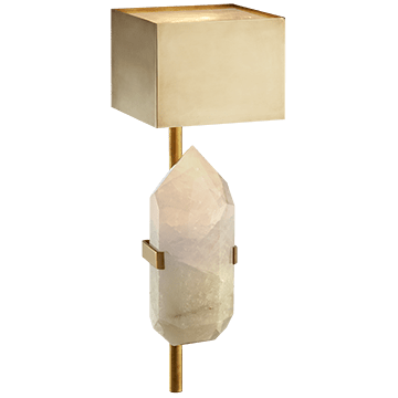 Kelly Wearstler Halcyon Sconce Antique Brass & Quartz
