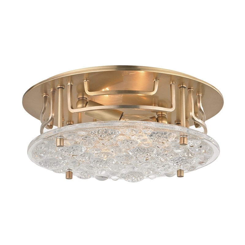 Hudson Valley Aged Brass Holland Flush Mount Ceiling Light
