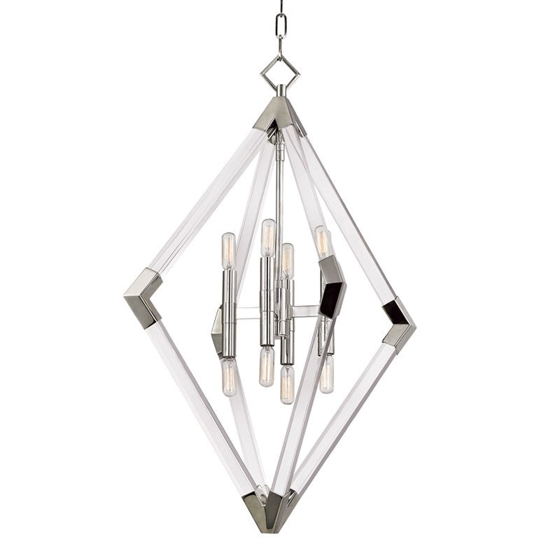 Hudson Valley Lyons Large Polished Nickel Ceiling Pendant - Decolight Ltd