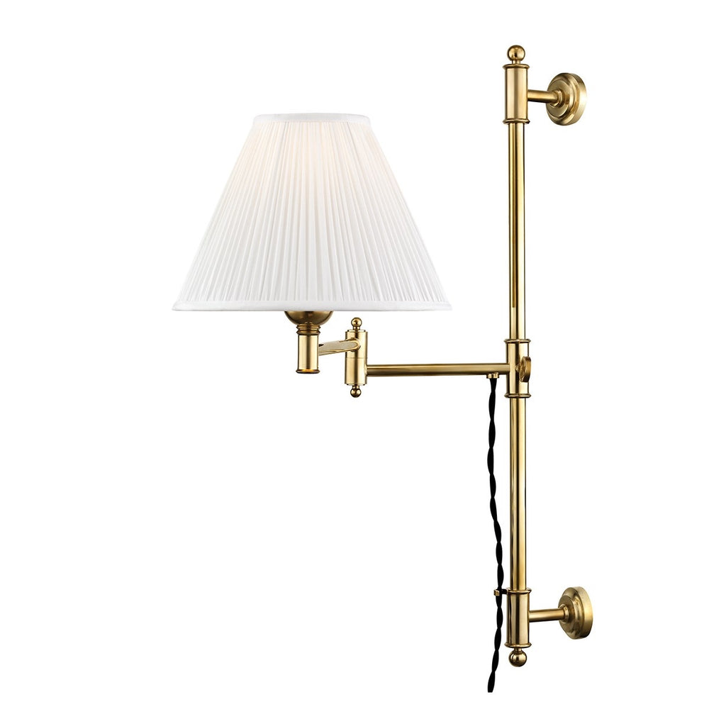 Hudson Valley Aged Brass Classic No.1 Wall Scone - Decolight Ltd