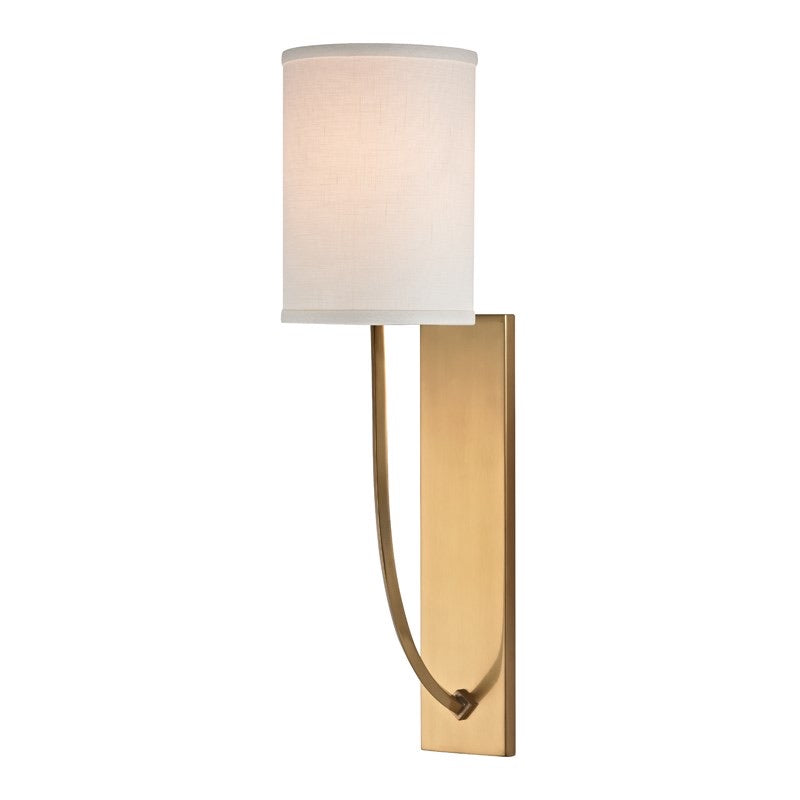 Hudson Valley Colton Mid Century Aged Brass Wall Light