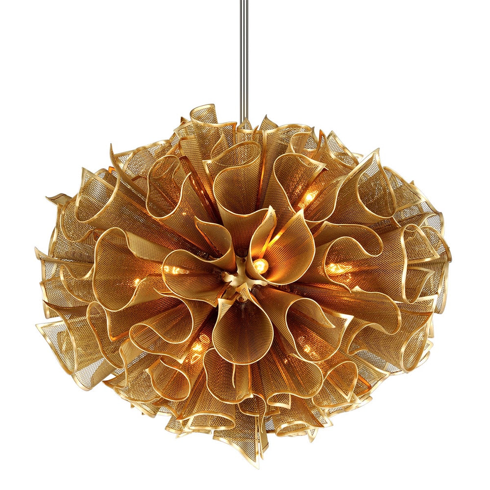 Corbett Lighting Pulse Large Gold Leaf Ceiling Light - Decolight Ltd