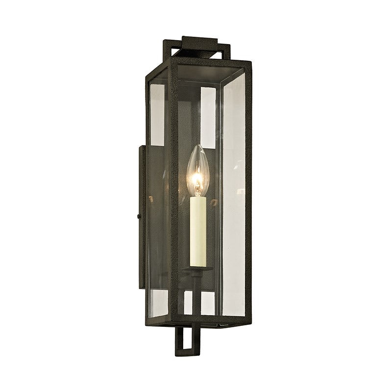 Troy Lighting Small Beckham Forged Iron Wall Light - Decolight Ltd
