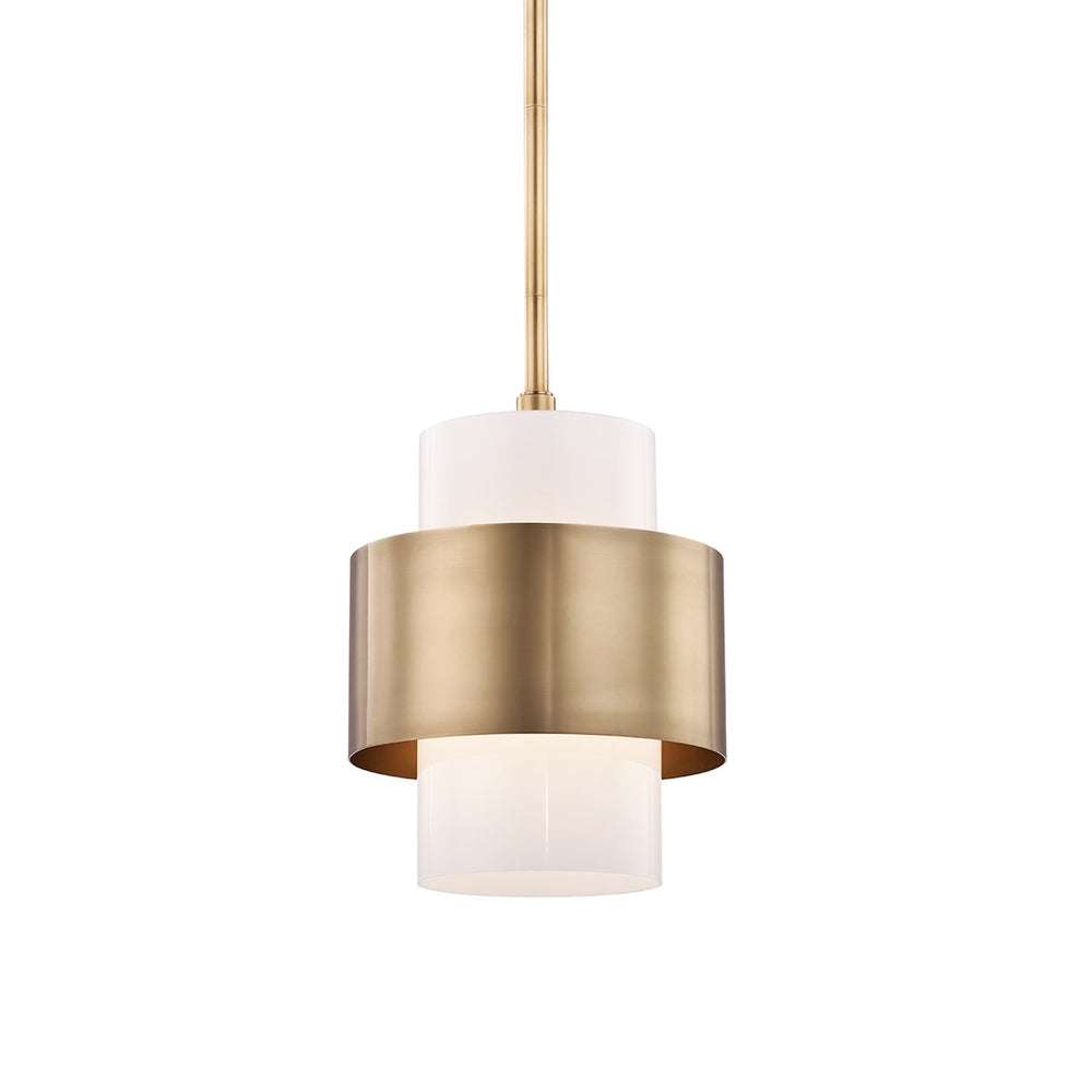 Hudson Valley Small Aged Brass Corinth Ceiling Pendant - Decolight Ltd