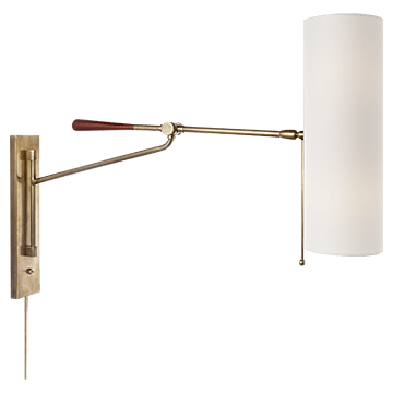 AERIN Frankfort Wall Light Antique Brass - Decolight Ltd
