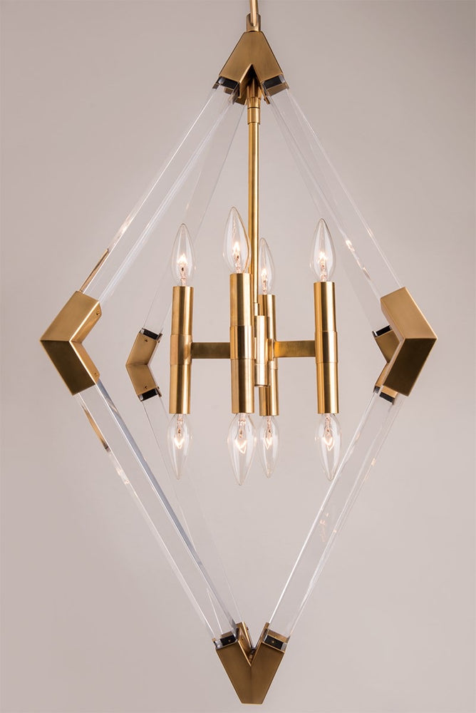 Hudson Valley Aged Brass Small Lyons Ceiling Pendant - Decolight Ltd