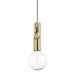 Mitzi Lighting Angela Aged Brass Pendant Ceiling Light