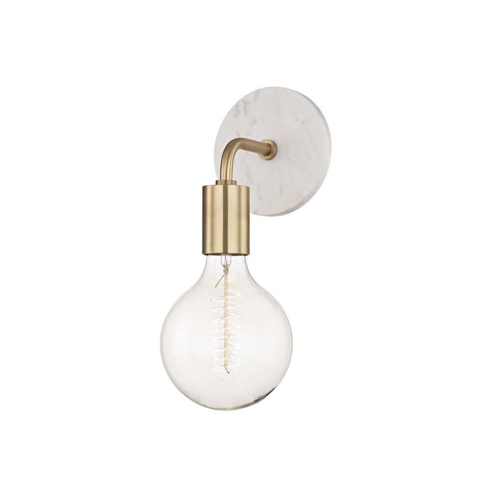 Mitzi Lighting Chloe Aged Brass Wall Light - Decolight Ltd