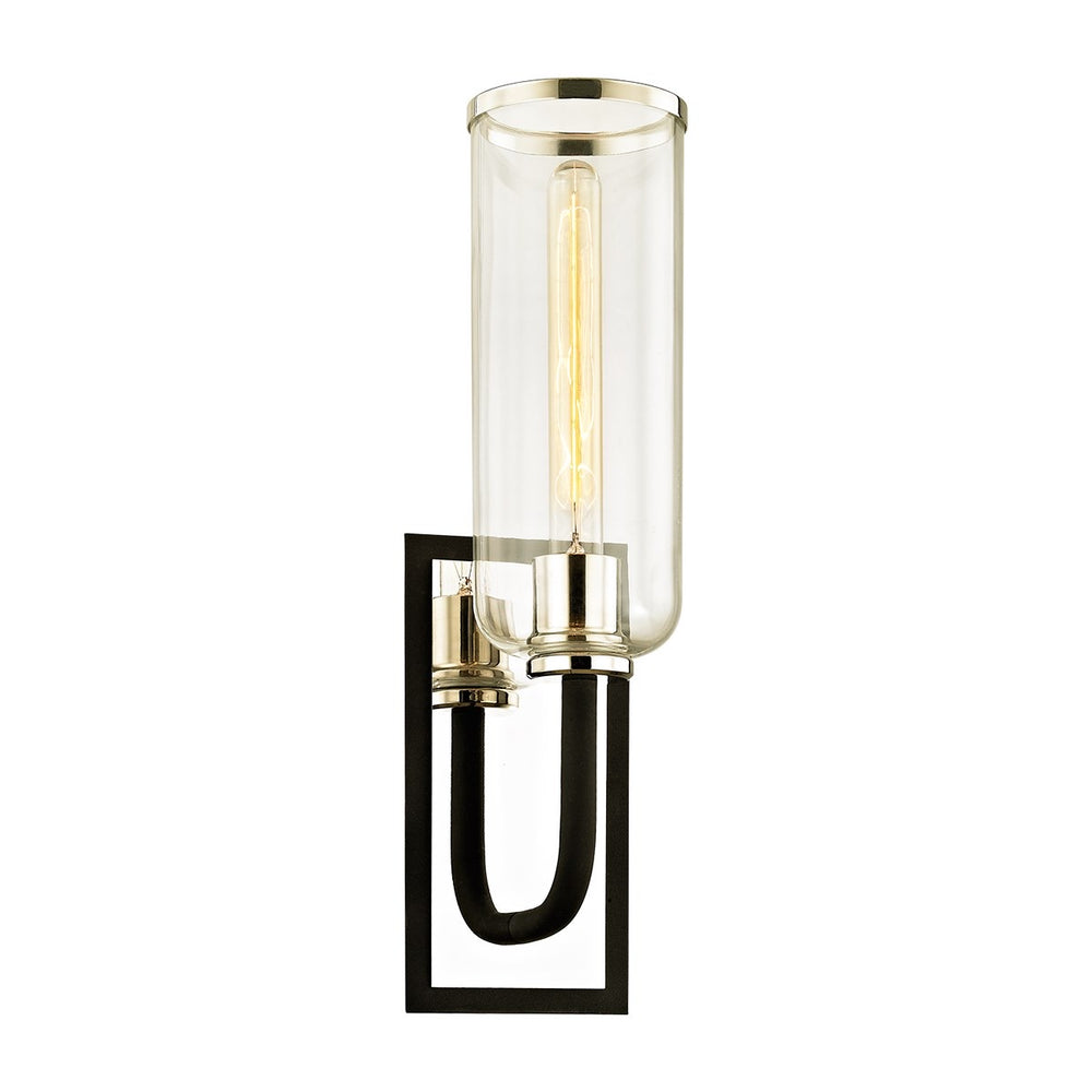 Troy Lighting Aeon Carbide Black And Polished Wall Light - Decolight Ltd