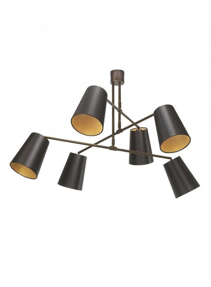 Heathfield Andromeda Antique Brass Mid - Century Ceiling Pendant Light