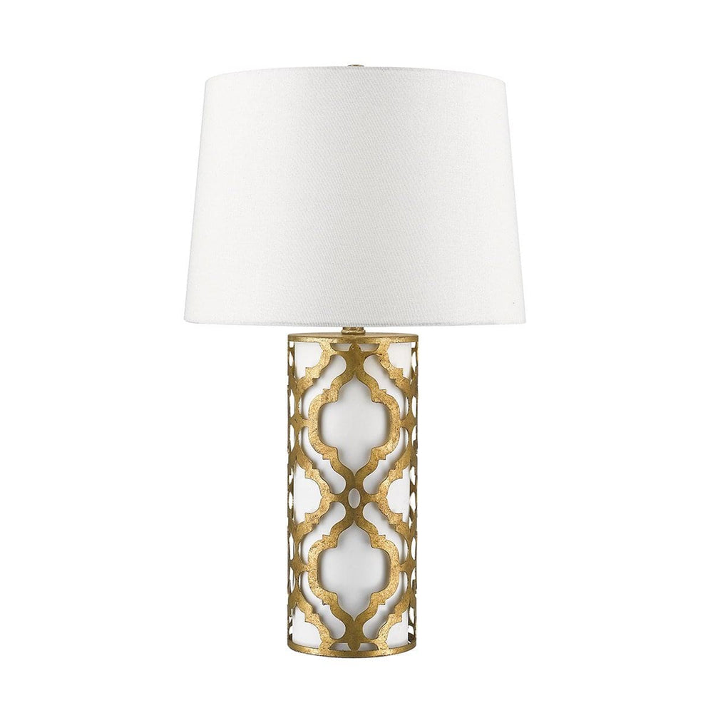 Arabella Distressed Gold Table Lamp | Guilded Nola | Decolight