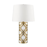 Decolight Arabella Distressed Gold Table Lamp