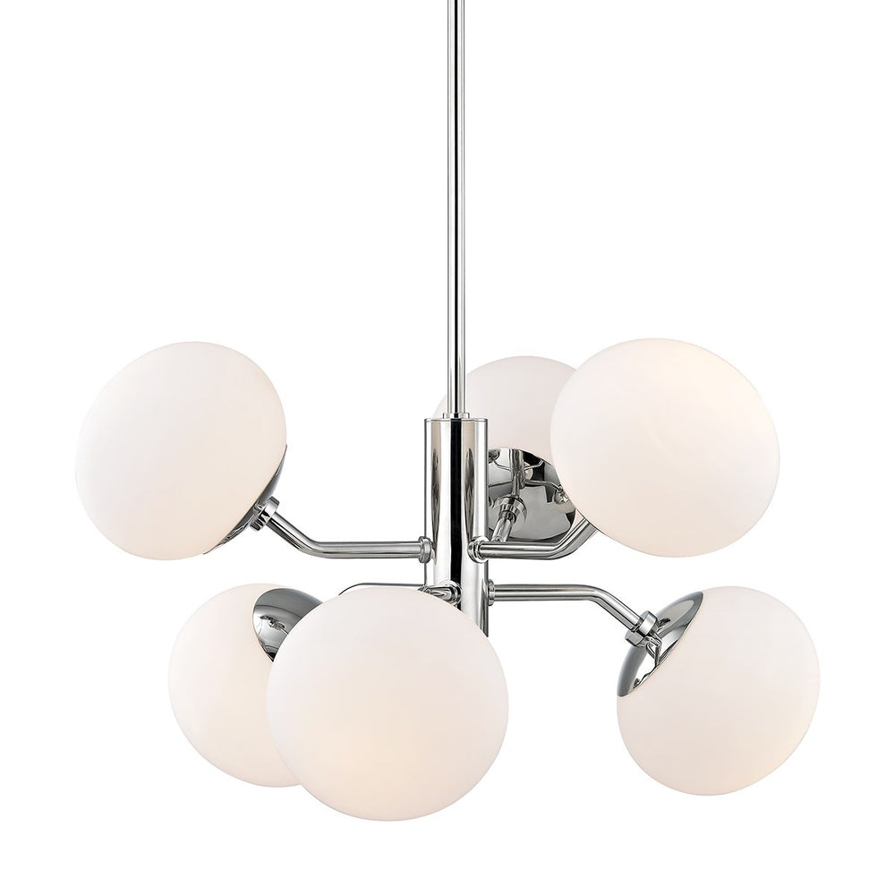 Mitzi Lighting Estee Globe 6 lt Polished Nickel - Decolight Ltd