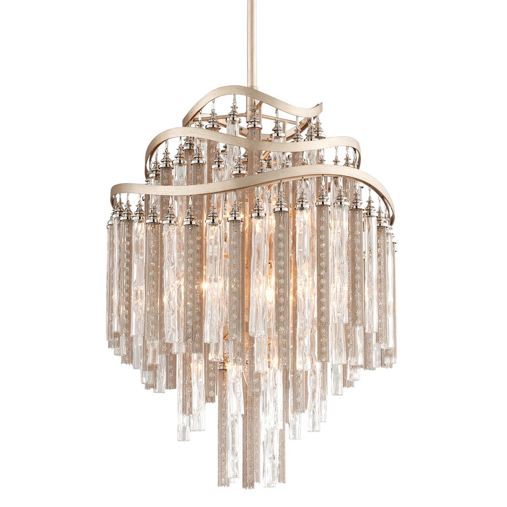 Corbett Lighting Chimera Small Tranquility Silver Leaf Ceiling Pendant