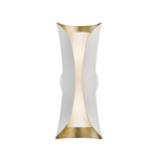 Mitzi Lighting Josie Gold Leaf/White Sconce Wall Light - Decolight Ltd