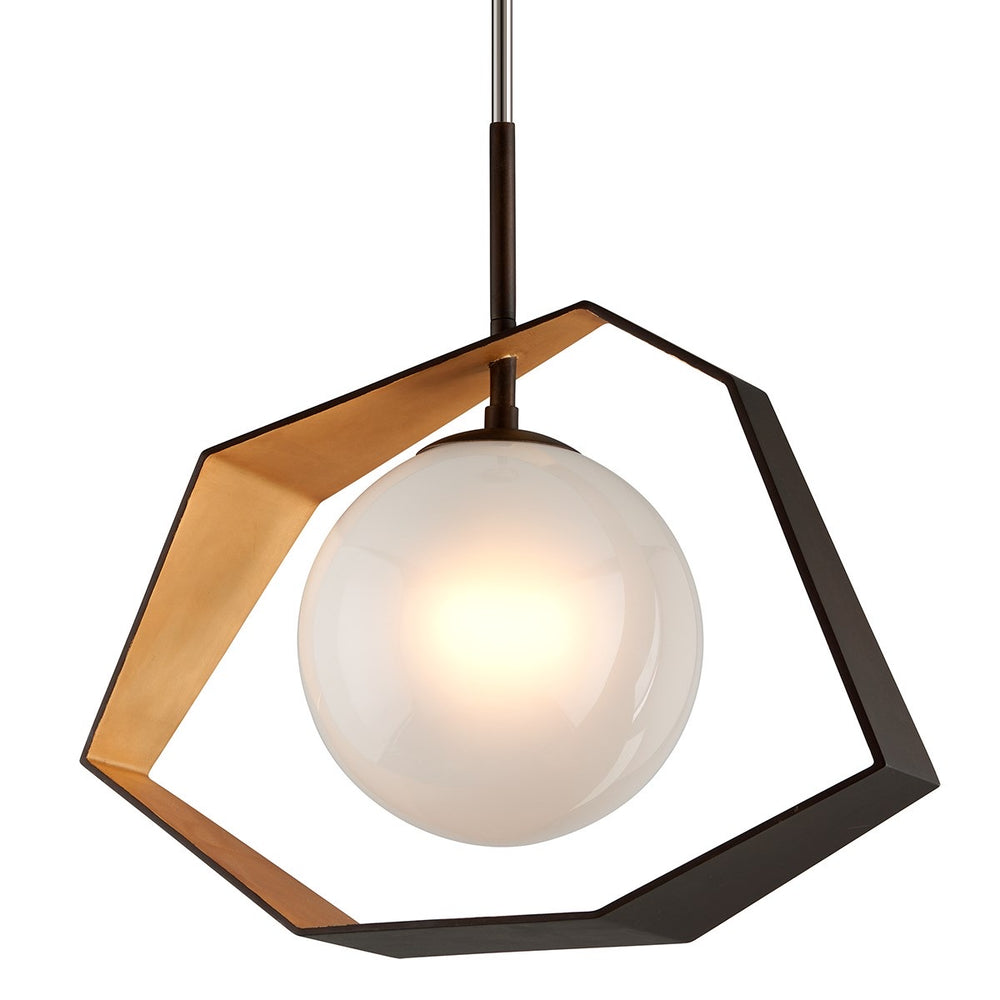 Troy Lighting Origami Bronze With Gold Leaf Ceiling Light - Decolight Ltd