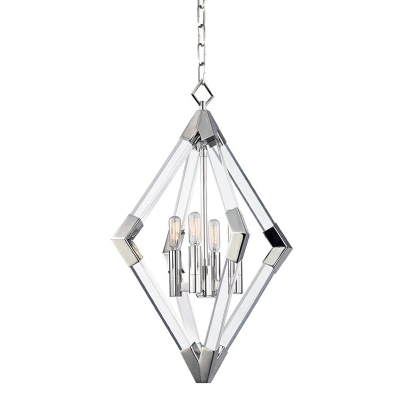 Hudson Valley Polished Nickel Small Lyons Ceiling Pendant - Decolight Ltd