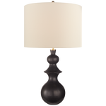 Saxon Large Table Lamp in Metallic Black