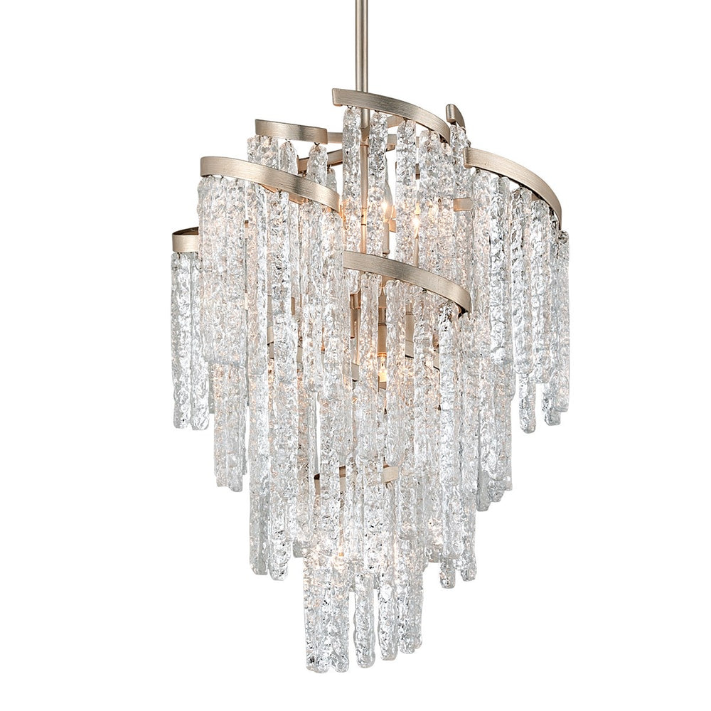 Corbett Lighting Small Mont Blanc Modern Silver Leaf Ceiling Light - Decolight Ltd
