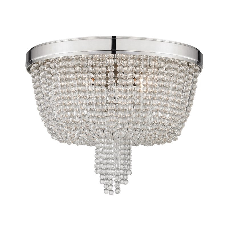 Hudson Valley Polished Nickel Royalton Flush Mount Ceiling Light