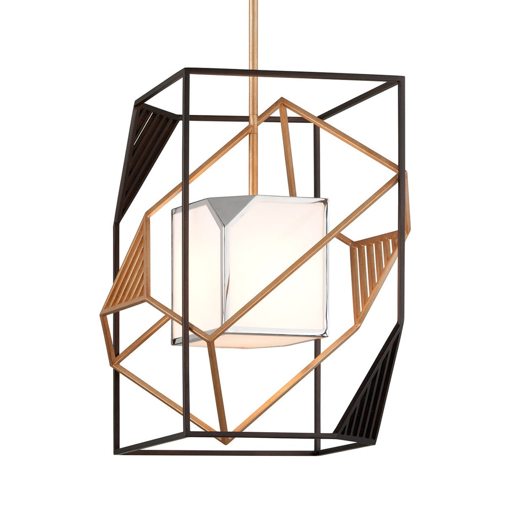Troy Lighting Cubist Bronze Gold Leaf And Stainless - Decolight Ltd