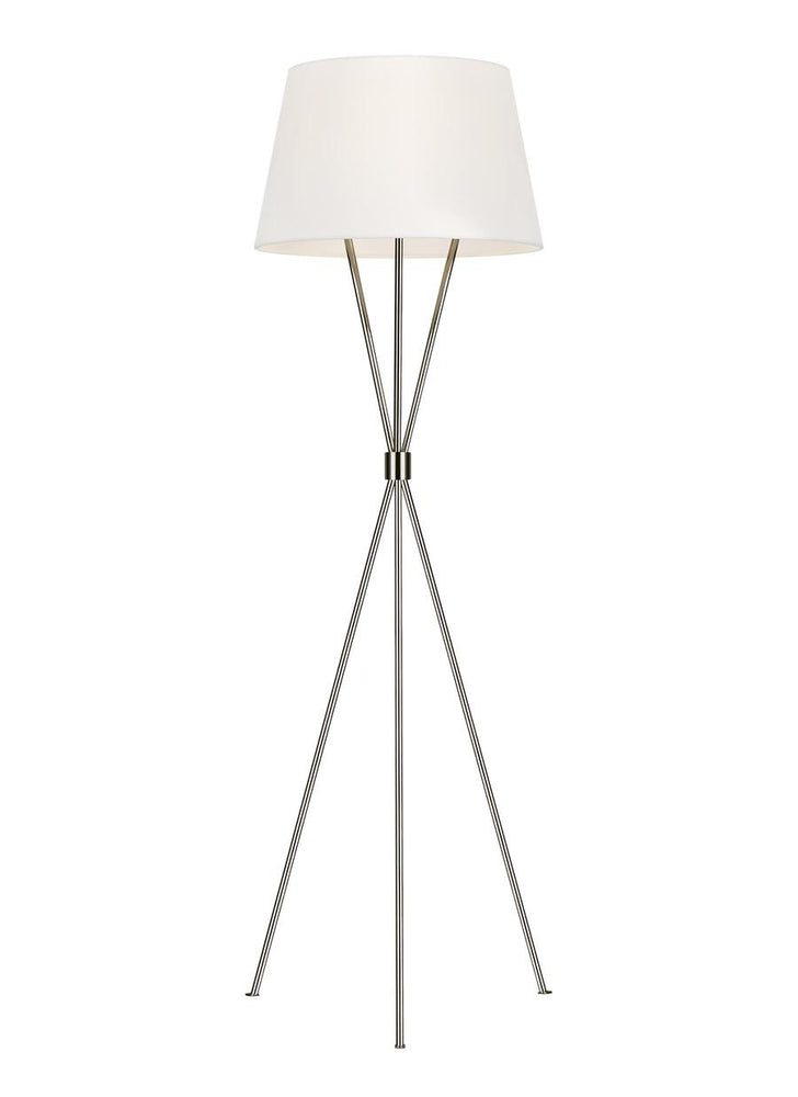Decolight Madison Tripod Floor Lamp Nickel - Decolight Ltd