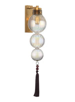 Heathfield Medina 3 Ball Lustre Brass Wall Light
