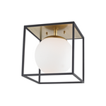 Mitzi Lighting Aira Aged Brass/Black Flush Mount Ceiling Light