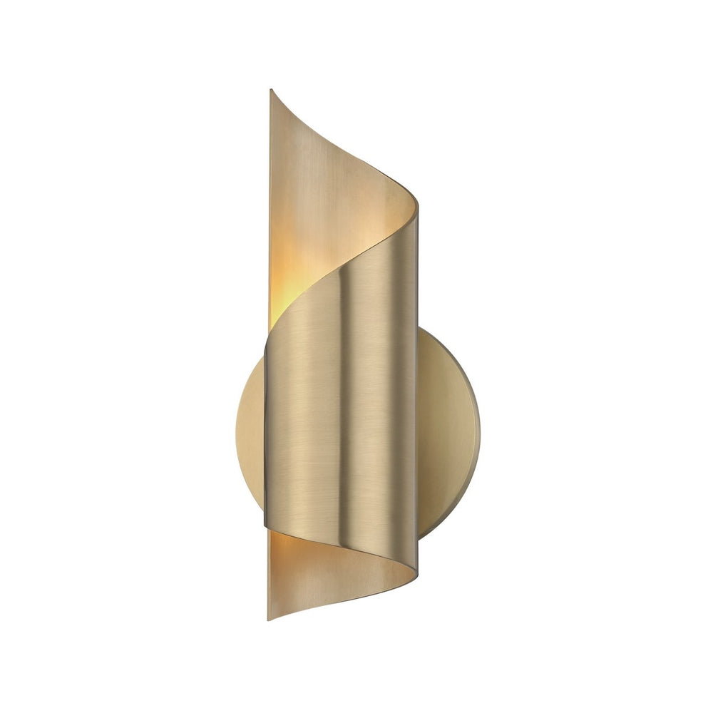 Mitzi Lighting Evie  Mid Century Aged Brass Wall Light