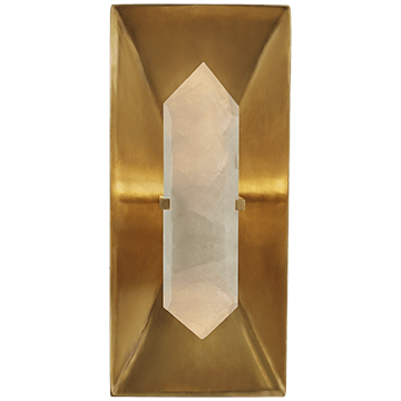Kelly Wearstler Halcyon  Rectangular Wall Light Antique Brass & Quartz