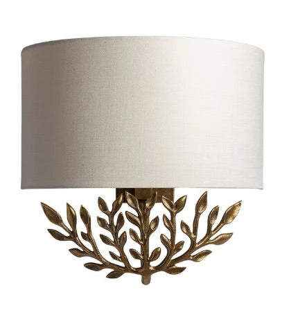 Heathfield & Co Leaf Brass Wall Sconce