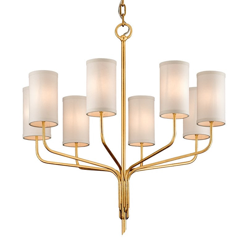 Troy Lighting Juniper Textured Gold Leaf  8 Lt Ceiling Light