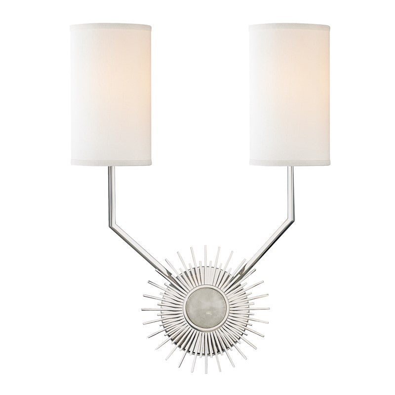 Hudson Valley Borland Polished Nickel Wall Light - Decolight Ltd