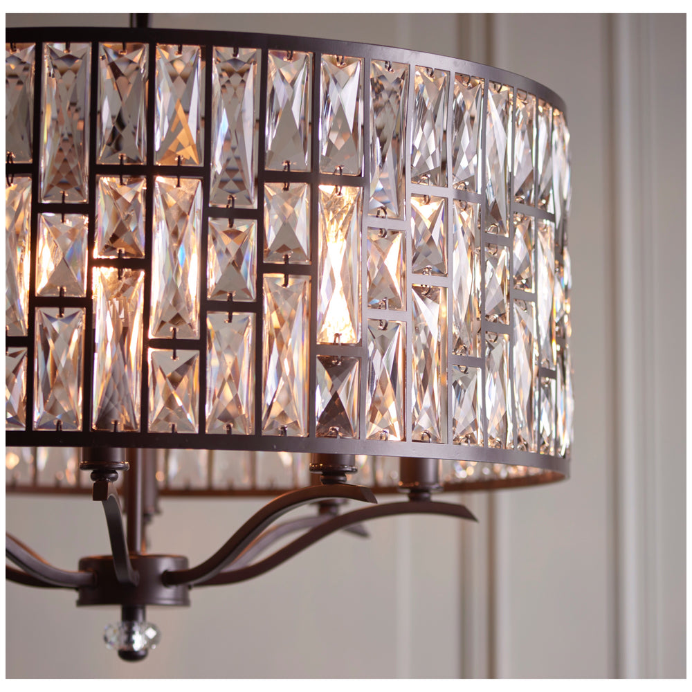 Decolight Ella Large Crystalline Bronze Ceiling Chandelier - Decolight Ltd