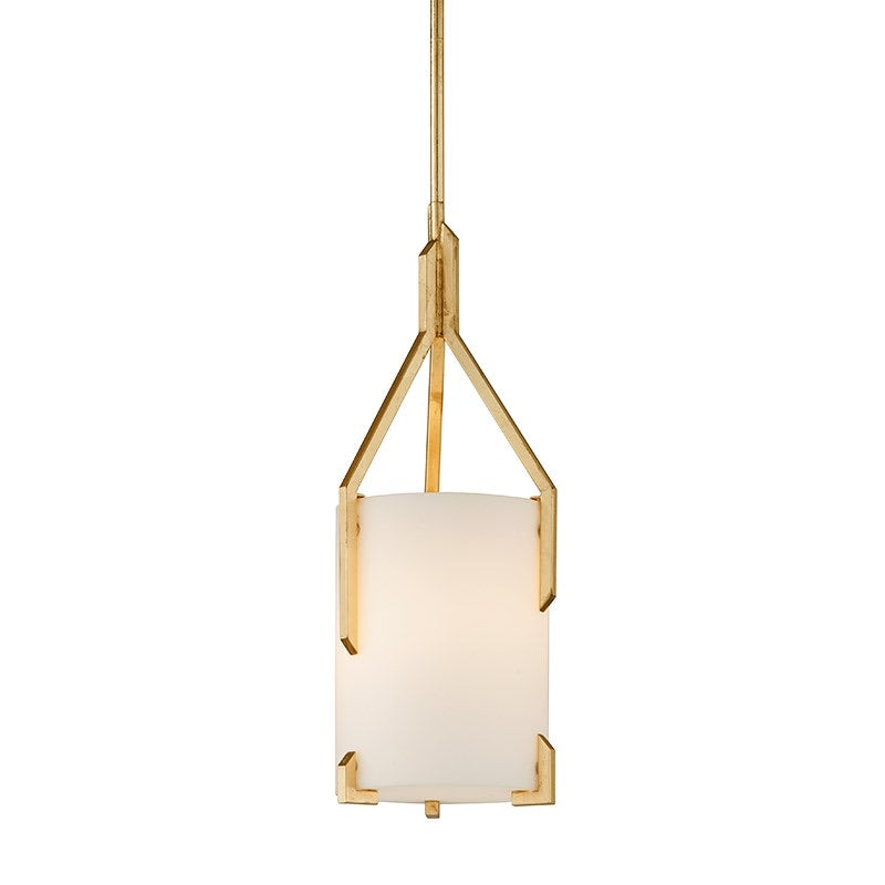 Troy Lighting Small Quantum Gold Leaf Ceiling Light - Decolight Ltd