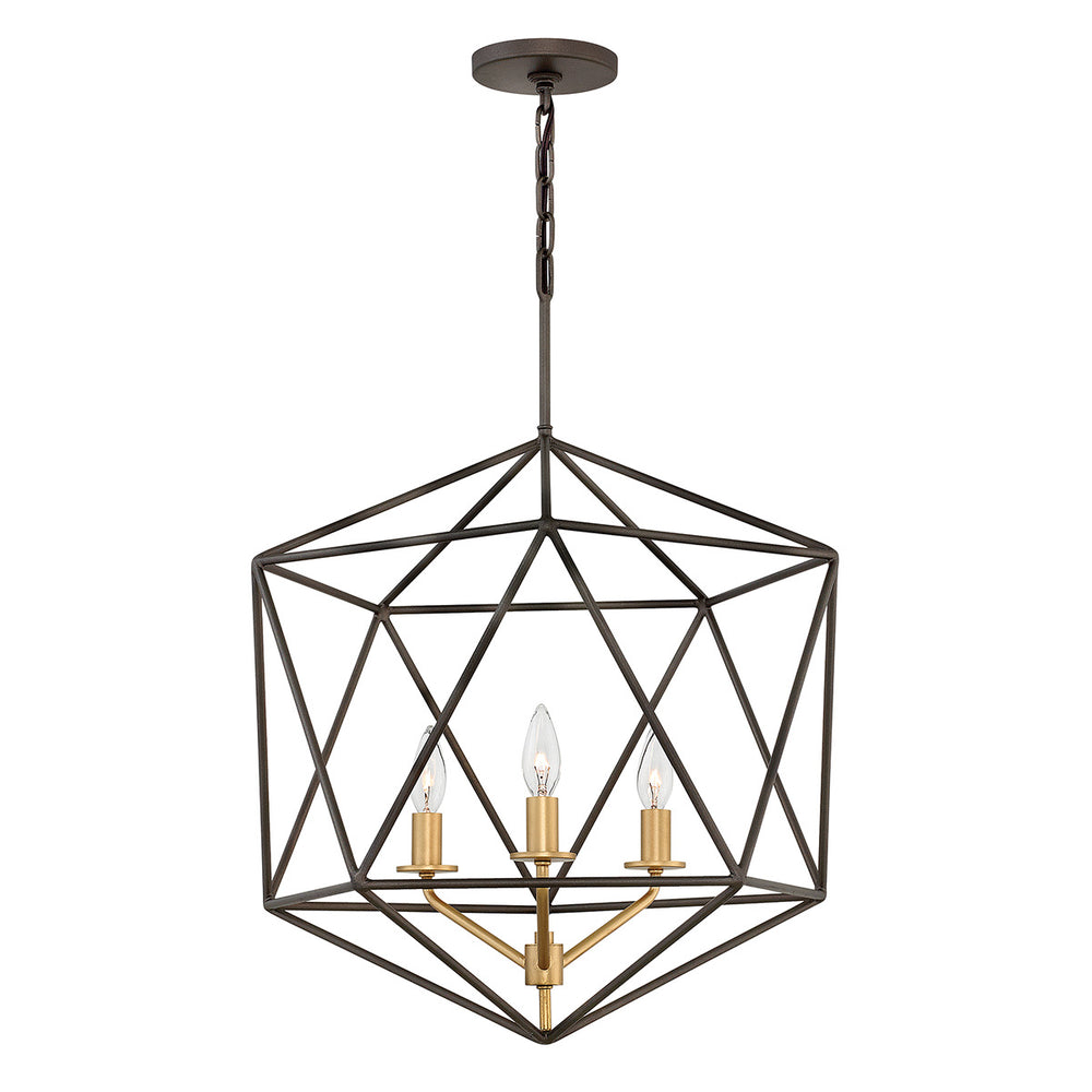 Decolight GEOMETRIC GEM CHANDELIER 3 Light Ceiling - Decolight Ltd