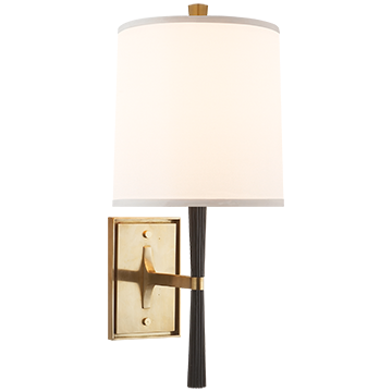 Refined Rib Sconce in Ebony Resin and Soft Brass - Decolight Ltd
