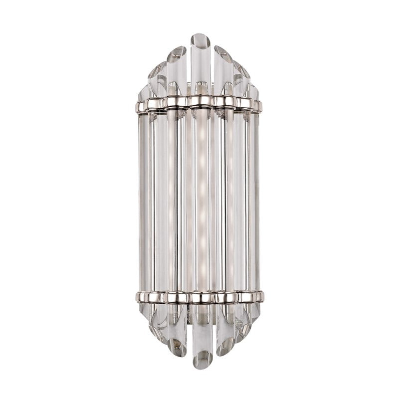 Hudson Valley Polished Nickel Albion Small Wall Light - Decolight Ltd