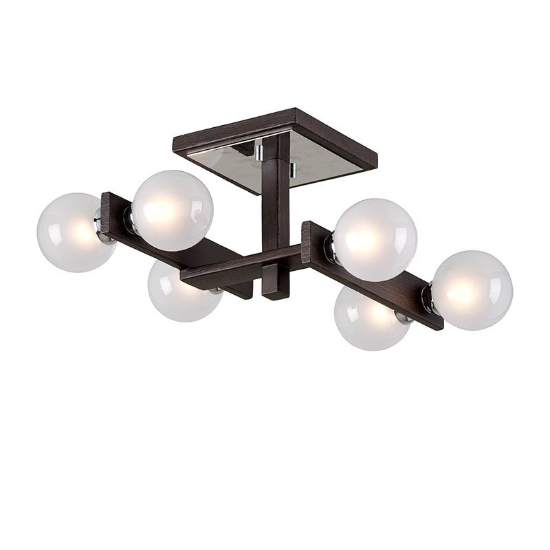 Troy Lighting Network Forest Bronze And Polished Chrome Ceiling Light - Decolight Ltd
