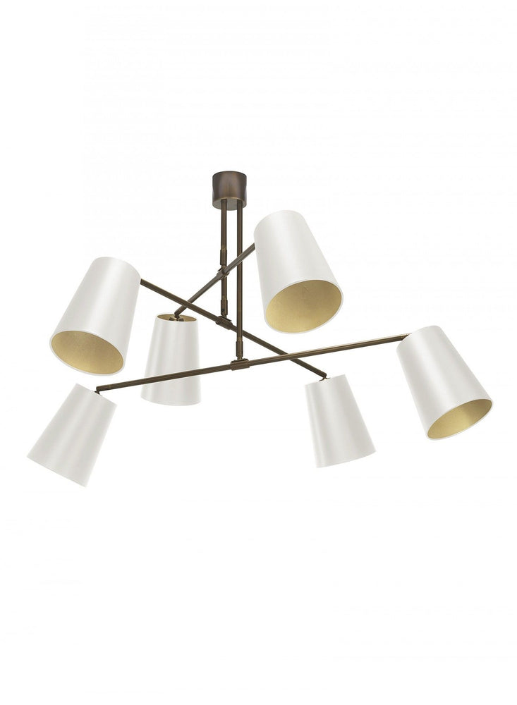 Heathfield & Co Andromeda Ceiling Pendant ( Ivory  & Gold )Decolight