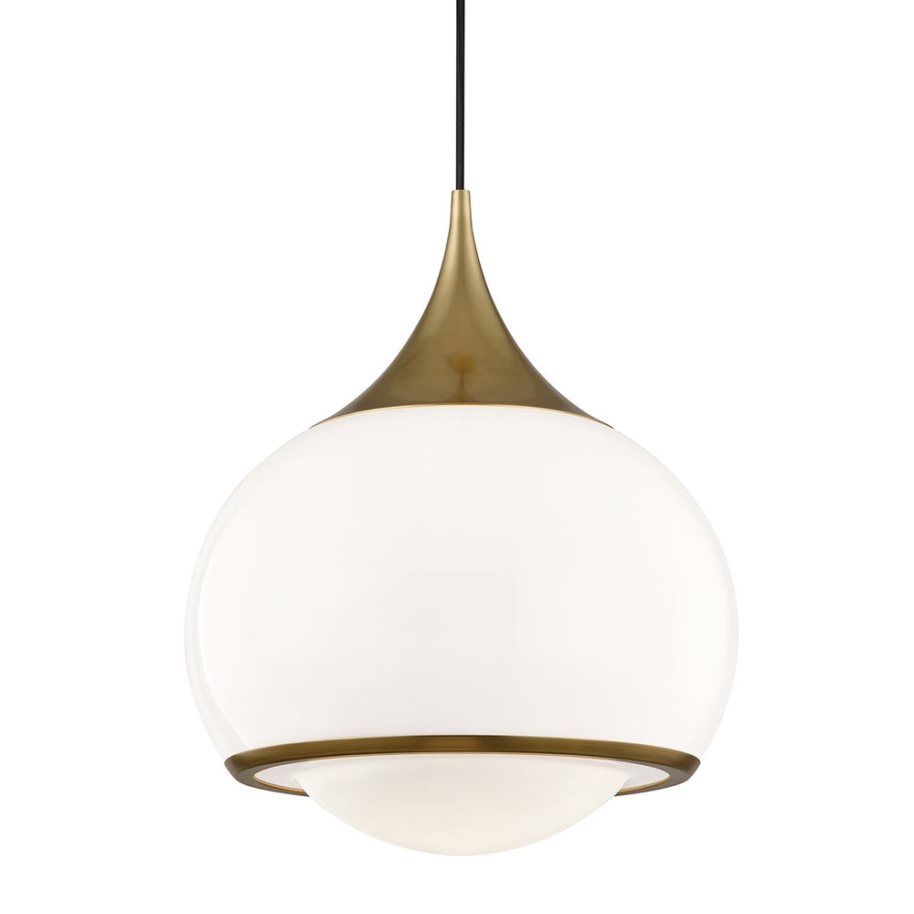 Mitzi Lighting Reese Ages Brass Pendant Ceiling Light Large