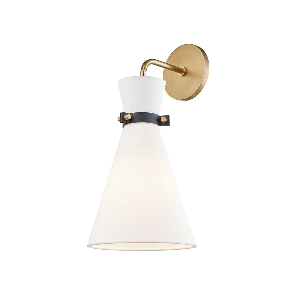 Mitzi Lighting Julia Aged Brass/Black Wall Light