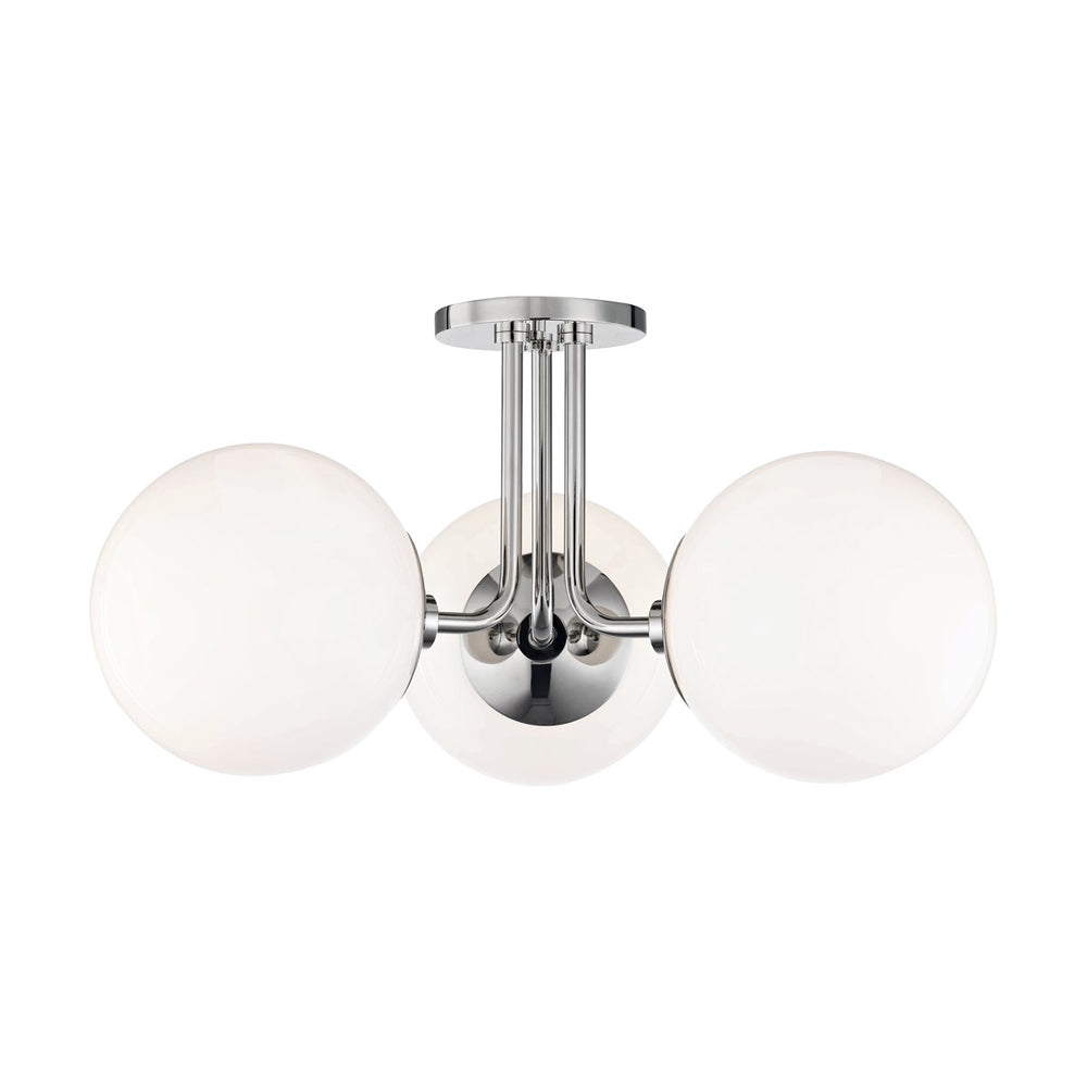 Mitzi Lighting Stella Polished Nickel Semi Flush Ceiling Light