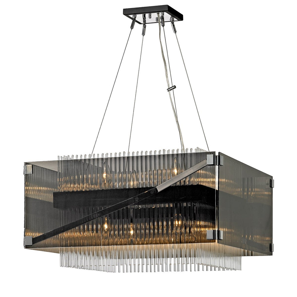 Hudson Valley Apollo Dark Bronze Polished Chrome Ceiling Light
