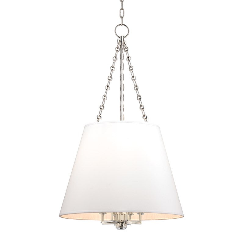 Large Hudson Valley Polished Nickel Burdett Ceiling Pendant