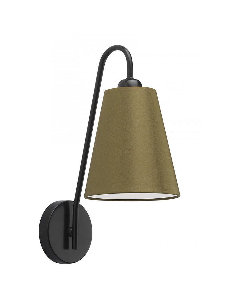 Heathfield & Co Alfa Black Mid Century Styled Wall Light